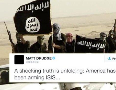 """Los estadounidenses se despiertan – Drudge hace viral el secreto más grande: """"EE.UU. ha estado armando a ISIS"""""""