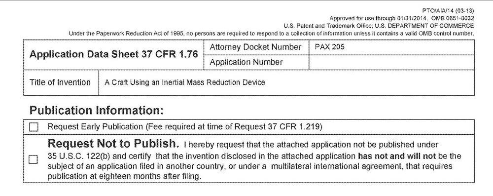 Marina de EEUU registra patentes de tecnología OVNI del Programa Espacial Secreto