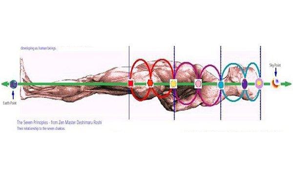 Canales y centros acumuladores de energía en el cuerpo humano
