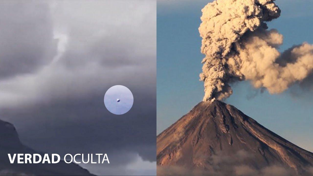 OVNI vuela sobre el Volcán Popocatépetl a pleno dia