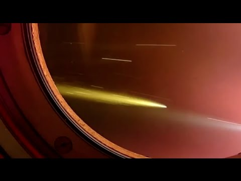 Reentrada da capsula Soyuz na visão de um astronauta