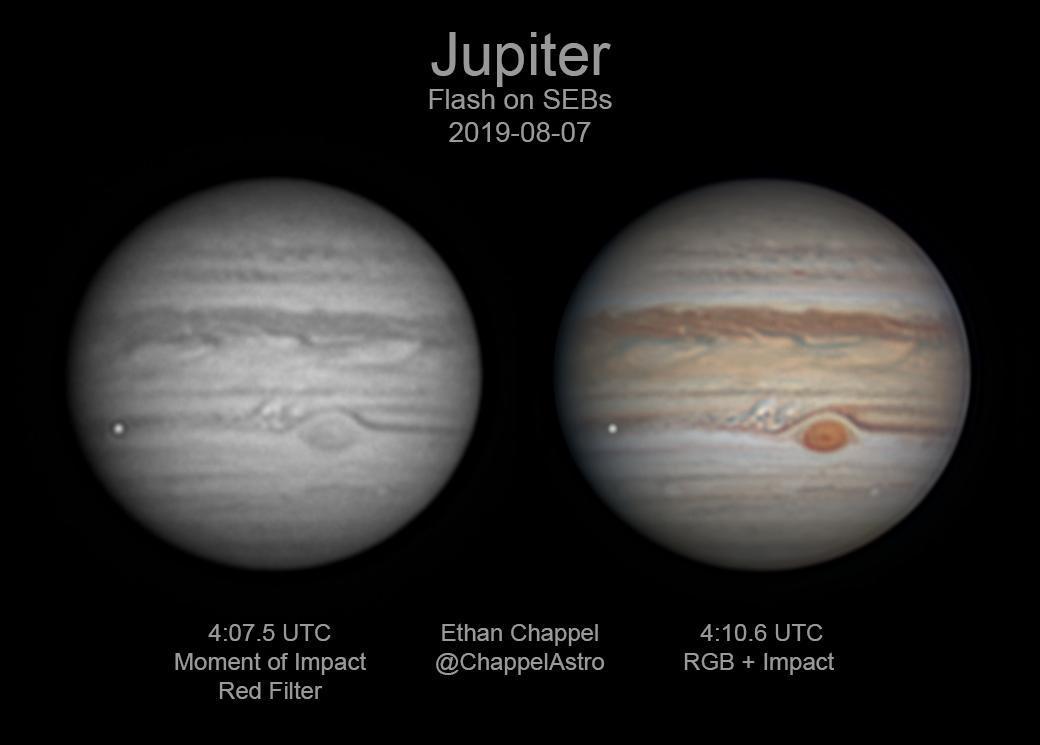 Júpiter acaba de ser golpeado por algo tan grande que lo vimos desde la Tierra