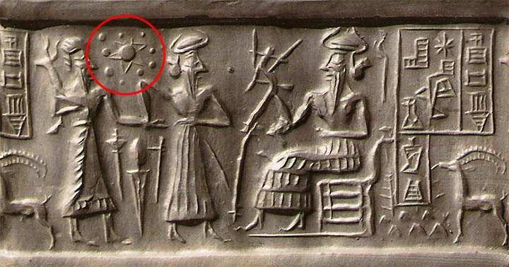 El sello sumerio VA / 243 podría representar los planetas del Sistema solar