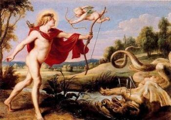 El mito del nacimiento de Apolo.