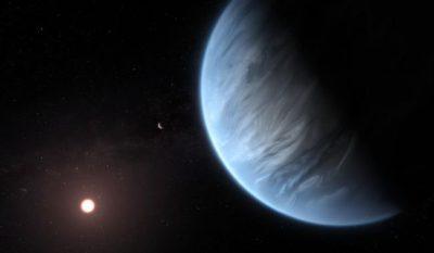 Se detecta vapor de agua en la atmósfera de un mundo alienígena de casi el doble del tamaño de la Tierra