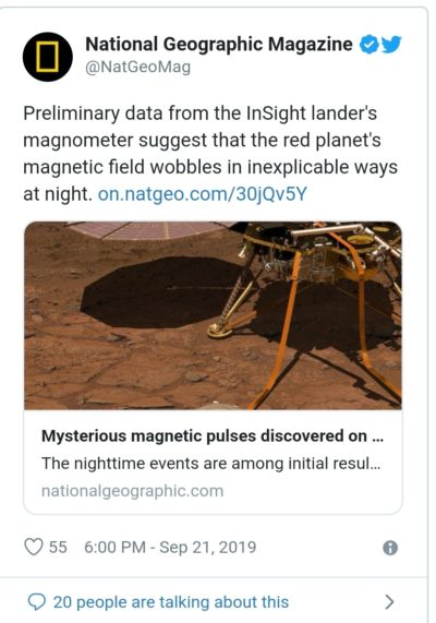 Extraños pulsos magnéticos descubiertos en Marte dejan a los científicos desconcertados