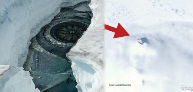 Un ovni se estrelló en la Antártida hace tres años y sigue escondido en el hielo?