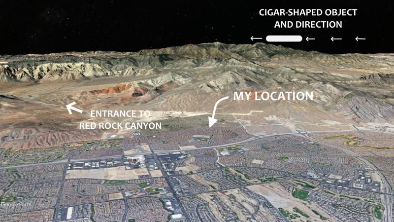 Capturan un «OVNI Cigarro» moviéndose a enorme velocidad sobre Las Vegas, Nevada