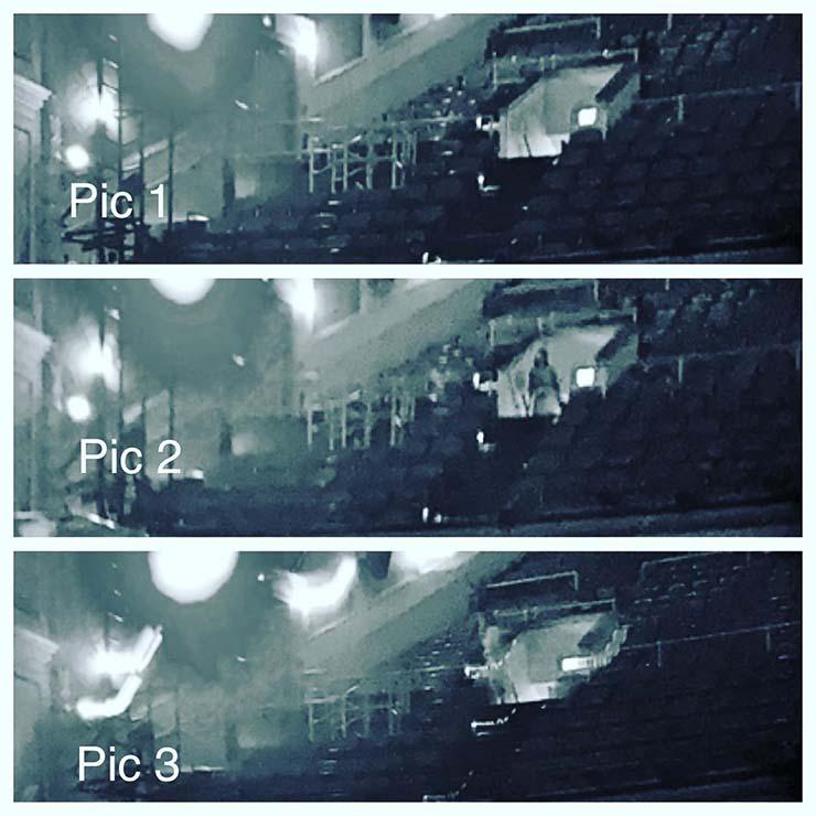 Conocido pianista estadounidense fotografía el fantasma de una mujer en un teatro