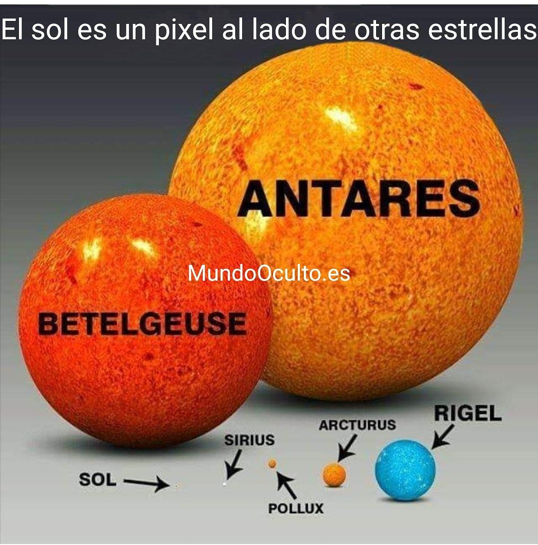 El sol es un pixel al lado de otras estrellas