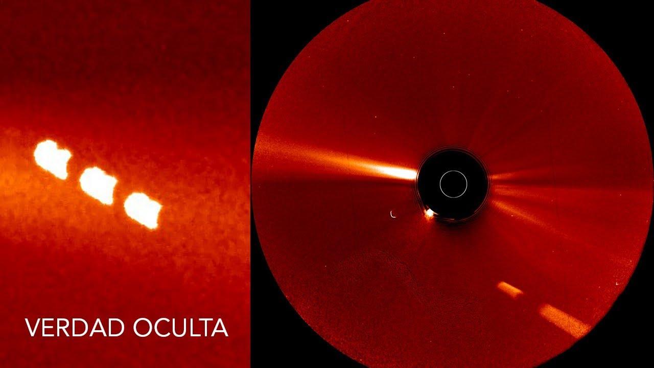 Se observan múltiples OVNIS cerca del SOL ¿Qué opina nasa?