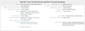 El documento de WikiLeaks habla sobre una base secreta estadounidense en la luna