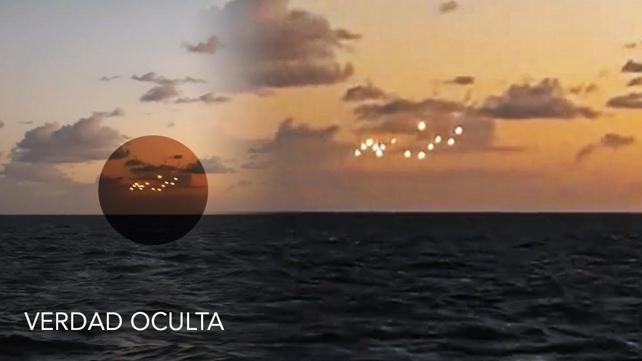 FLOTA de OVNIS sobre el OCÉANO ATLÁNTICO