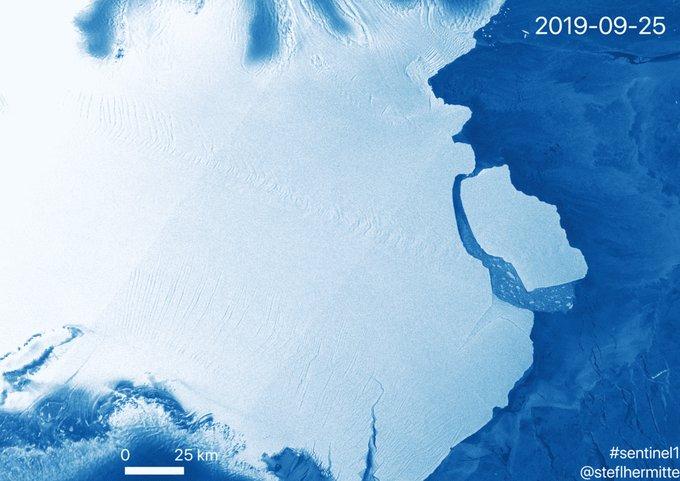 La División Antártica Australiana anunció este martes que un iceberg gigante de 315.000 millones de toneladas se ha desprendido de la plataforma de hielo Amery