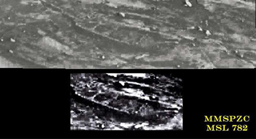 La extraña fotografía de un «barco» en Marte