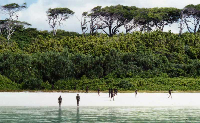 isla sentinel del norte- India