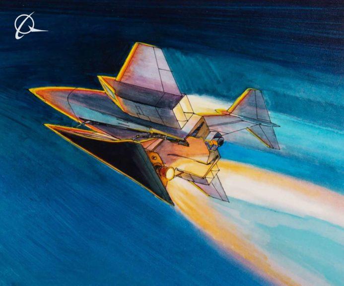 Las imágenes de Boeing y las patentes de la nave nodriza parecen ser del Área 51
