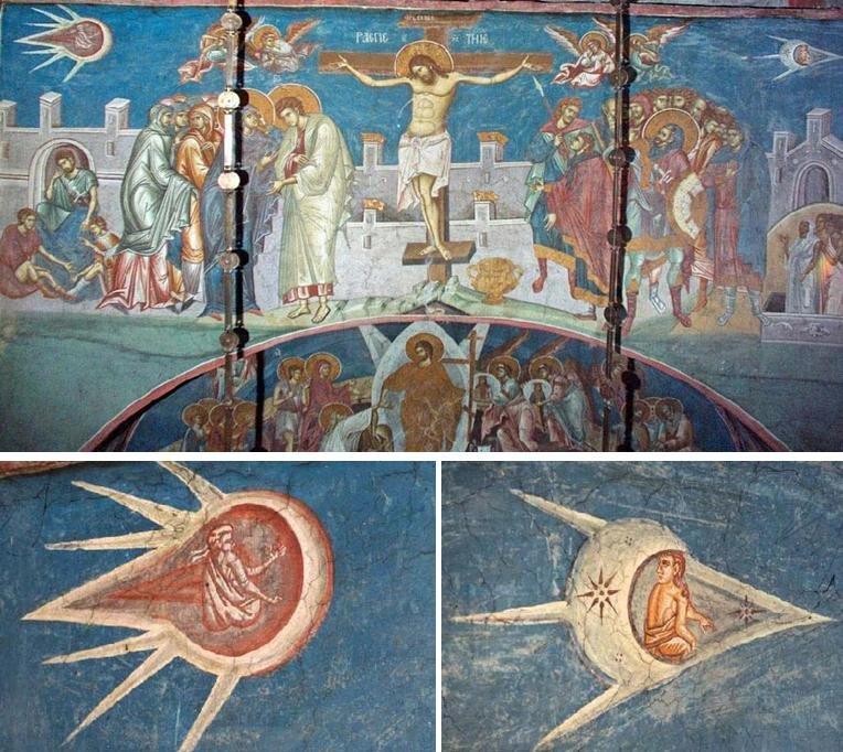 La pintura OVNI de la crucifixión