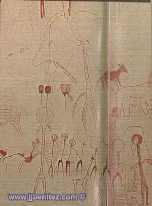 Astronautas en Africa durante la edad de piedra