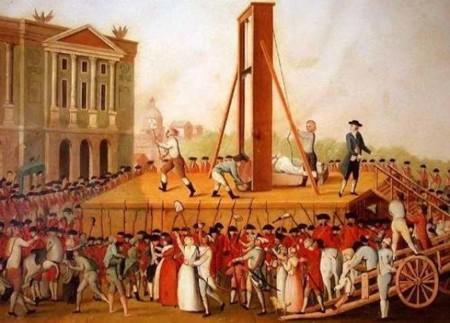 Cabezas vivientes tras ser guillotinadas