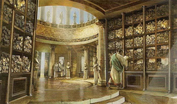 La Biblioteca de Alejandría: pérdida del conocimiento original de la sociedad