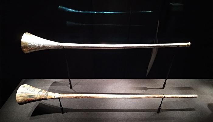 Las trompetas 'malditas' de Tutankamón.