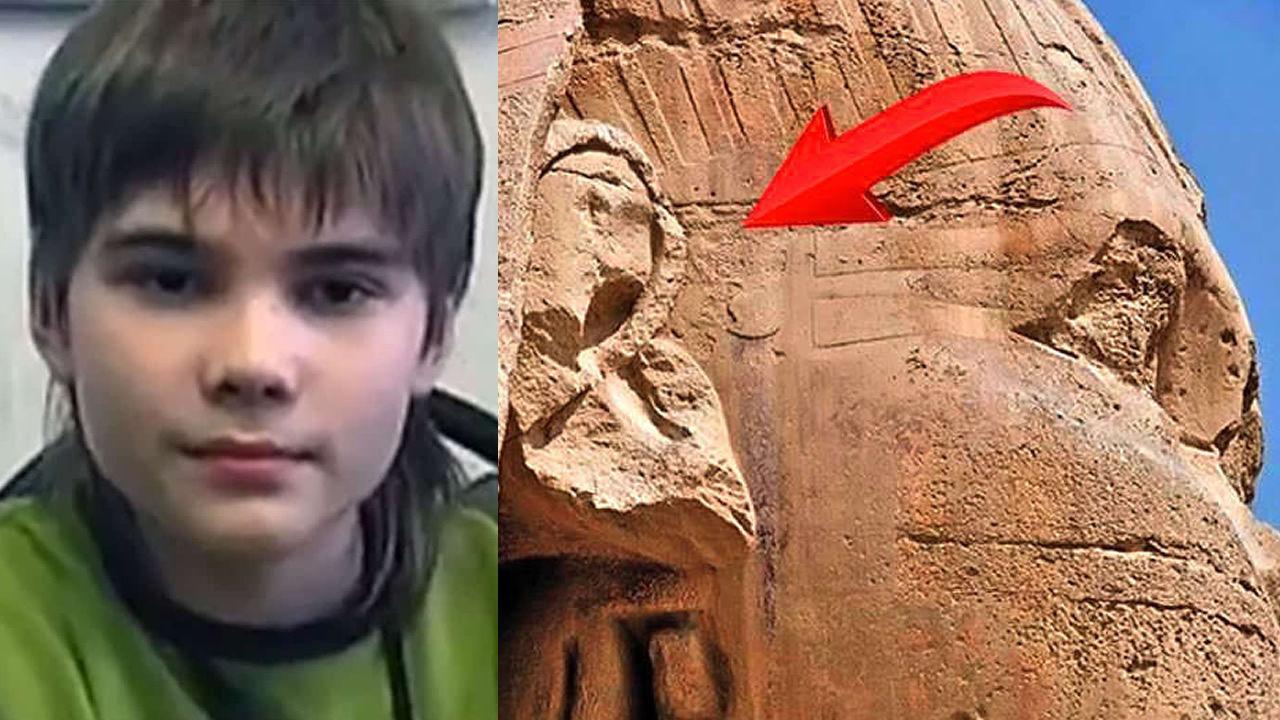 Niño genio revela que la sociedad cambiará cuando se descubran los misterios de la Gran Esfinge de Giza.