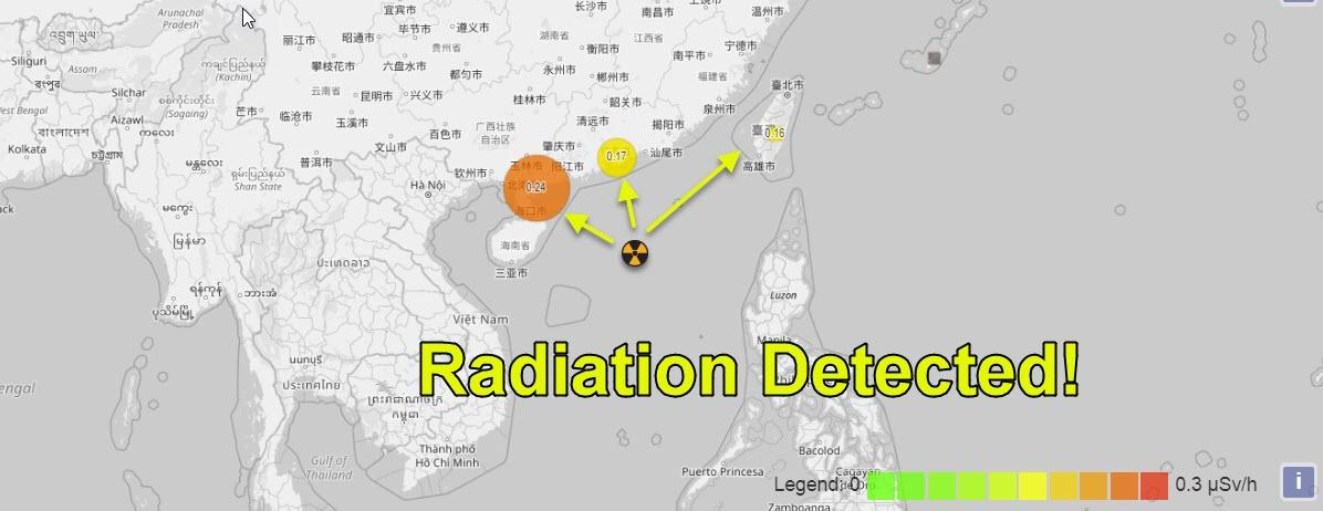 Posible explosión nuclear se detecta en el Mar de China