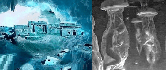 Una civilización extraterrestre congelada bajo las capas de hielo de la Antártida