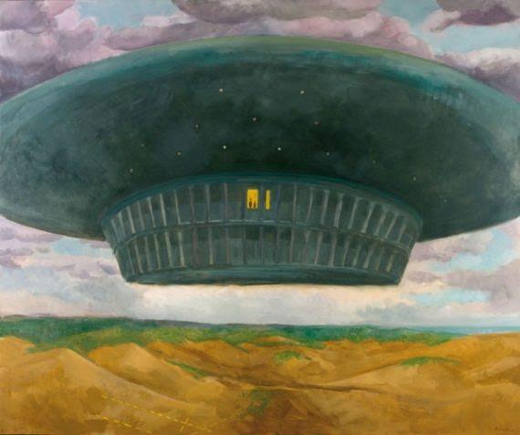Artista español pinta las representaciones de su encuentro con los extraterrestres
