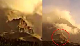 Estructura antigua con puerta de 50 metros a la base alienígena debajo del volcán, video, noticias de avistamiento de ovnis.