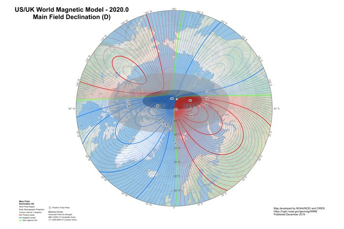 El Polo Norte magnético de la Tierra se ha desplazado más de lo esperado.