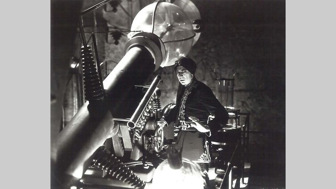 Fotograma de Chandu El Mago, film de 1932. Argumento que gira en torno al Rayo de la Muerte