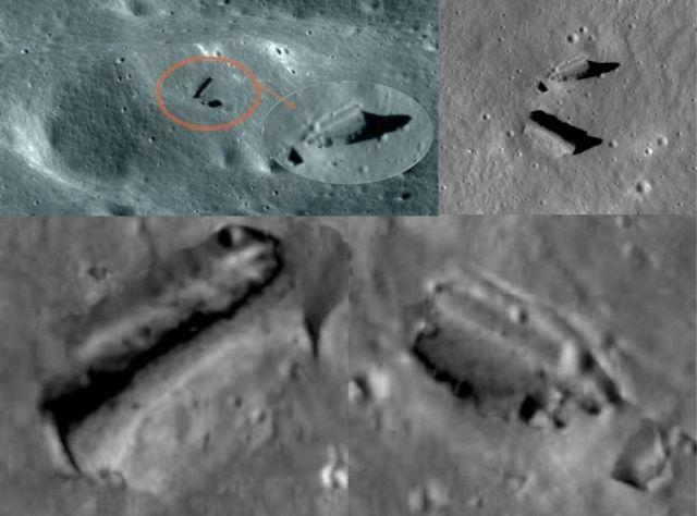 ¿Qué hacen estas construcciones y vehículos en el lado escondido de la Luna?