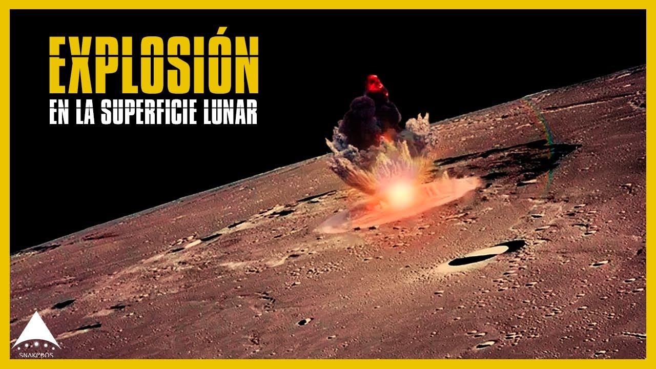 Se registra explosion en la luna