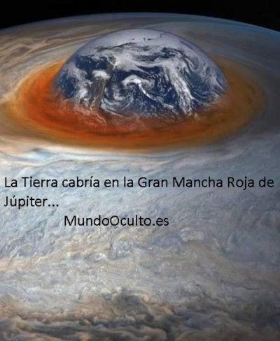 La Tierra cabría en la Mancha de Júpiter...