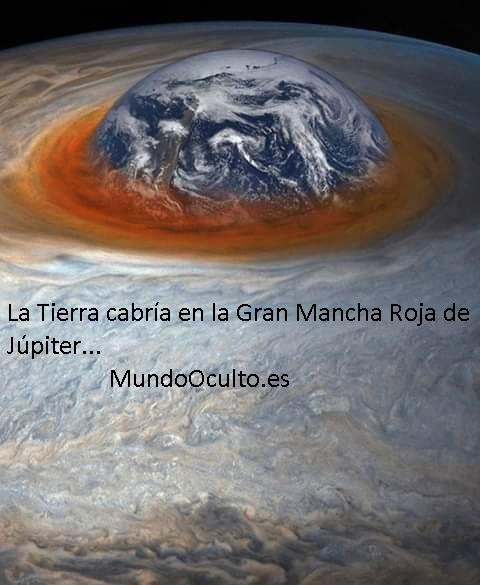 La Tierra cabría en la Mancha de Júpiter…