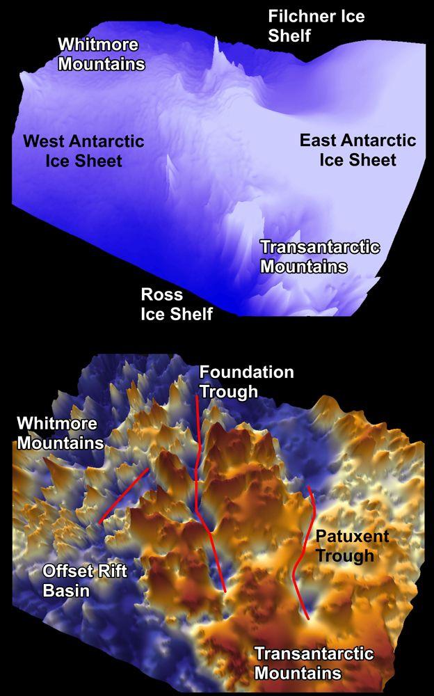Túneles subterráneos colosales que atraviesan la Antártida