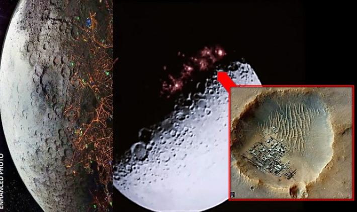Un enorme HOLOGRAMA esconde «Bases, fortalezas y ciudades alienígenas» en la Luna