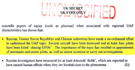 Pilotos rusos y chinos fueron asesinados persiguiendo ovnis