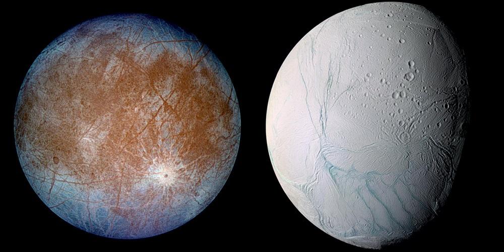 Un estudio dice que la vida extraterrestre en las lunas de Saturno y Júpiter puede ser 'indígena'