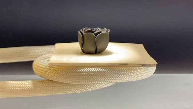 El nuevo material que cambia de forma puede doblar, torcer y levantar objetos 1,000 veces su propio peso