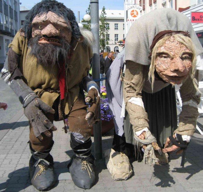 Gryla el troll caníbal y sus hijos