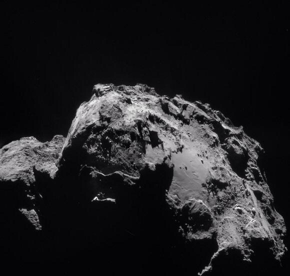 Censura en las imagenes del cometa 67p