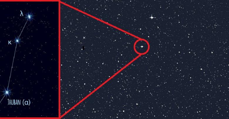Ubicación de Alpha Draconis en el cielo. Crédito de imagen: TESS / NASA / MIT / Shutterstock.