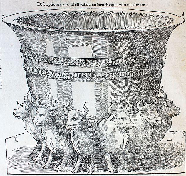 """Archivo:Biblia, (1547?) """"Descriptio MARIS, ide est vasis continentis aquae vim maximan"""" (9239452658).jpg"""