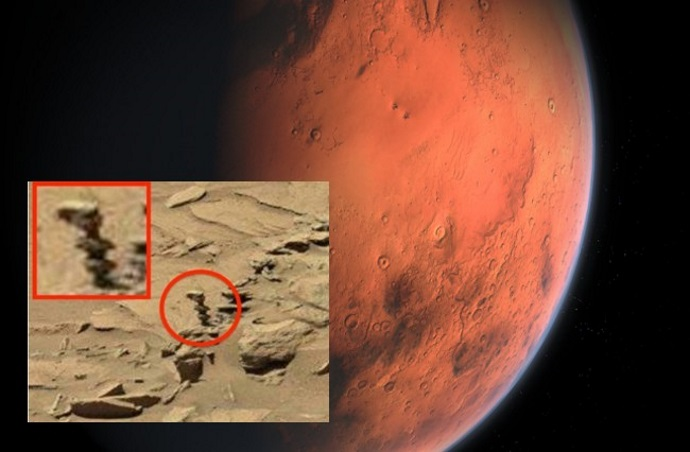 """¡Marte, el Rover Curiosity fotografía una """"Estatua Alienígena"""" en el planeta rojo!"""