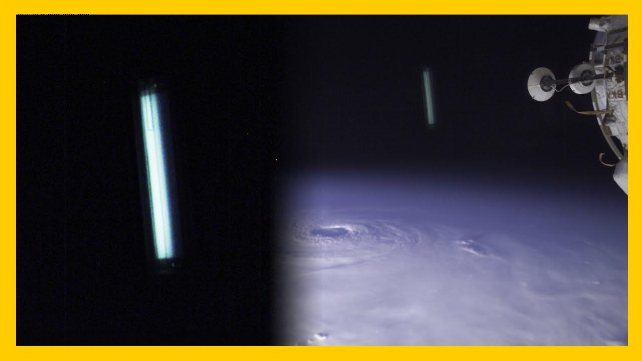 OVNI sobre la Tierra visto desde el Espacio