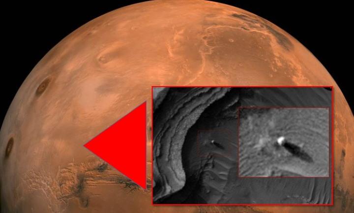 Se ha descubierto una «Estructura alienígena» en la superficie de Marte
