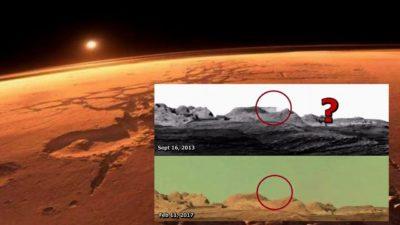 Expuesto! Edificio en Marte borrado de una imagen de la Curiosity